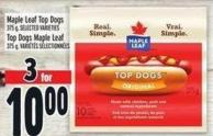 Maple Leaf Top Dogs - 375 g