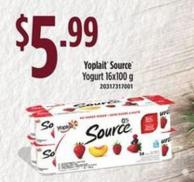 Yoplait Source Yogurt 16x100g