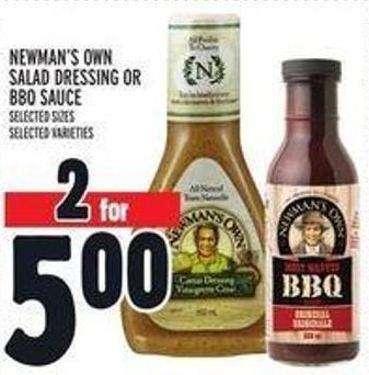 Newman's Own Salad Dressing Or Bbq Sauce