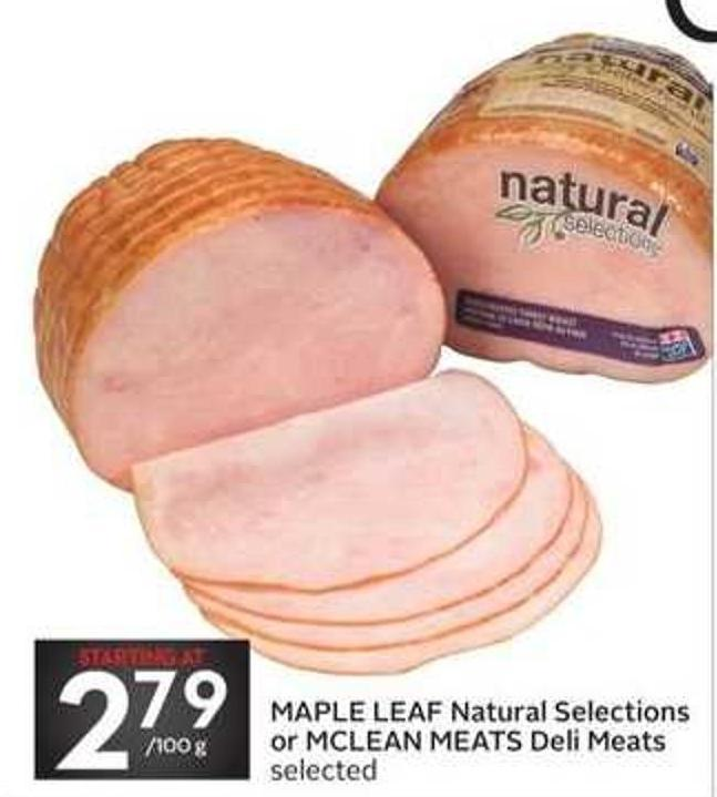 Maple Leaf Natural Selections or Mclean Meats