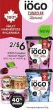 IOGO Canadian Harvest Yogurt 650 mL or 4x140g Portion 40% Bigger