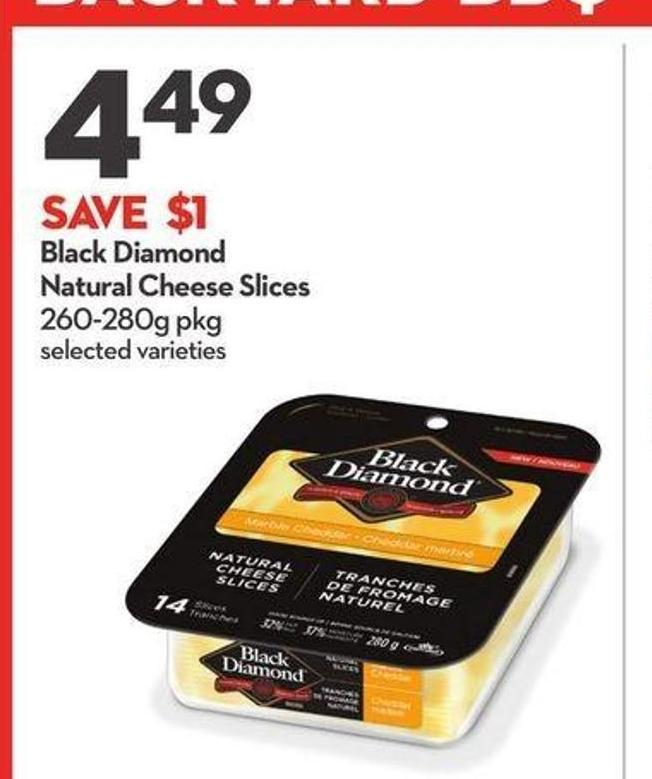 Black Diamond Natural Cheese Slices