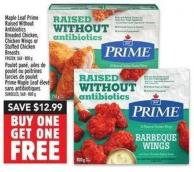 Maple Leaf Prime Raised Without Antibiotics Breaded Chicken - Chicken Wings Or Stuffed Chicken Breasts