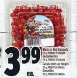 Black Or Red Currants 170 G - Product Of Canada Gooseberries 170 G - Product Of Canada