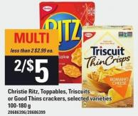 Christie Ritz - Toppables - Triscuits Or Good Thins Crackers - 100-180 G