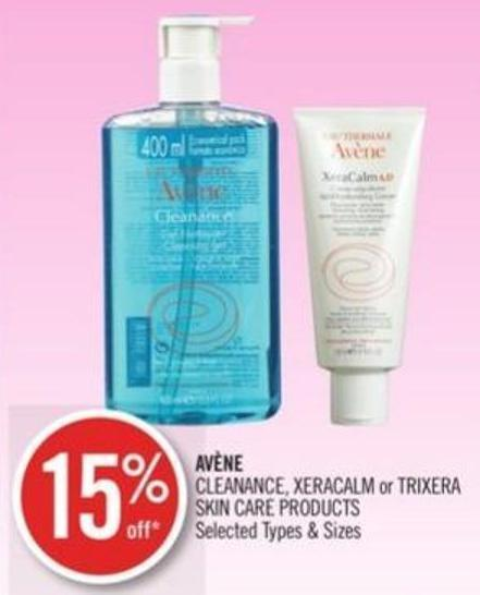 Avène Cleanance - Xeracalm or Trixera Skin Care Products