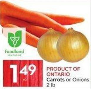 Product Of Ontario Carrots or Onions 2 Lb