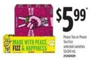 Peace Tea Or Peace Tea Fizz - 12x341 Ml