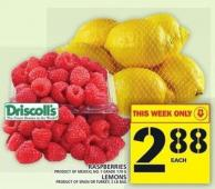 Raspberries Or Lemons