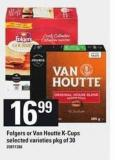 Folgers Or Van Houtte K-cups - Pkg of 30