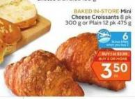 Mini Cheese Croissants - 6 Air Miles Bonus Miles