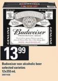 Budweiser Non-alcoholic Beer - 12x355 mL