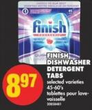 Finish Dishwasher Detergent Tabs - 45-60's
