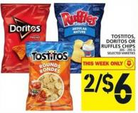 Tostitos - Doritos Or Ruffles Chips