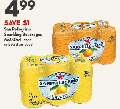 San Pellegrino Sparkling Beverages 6x330ml Case