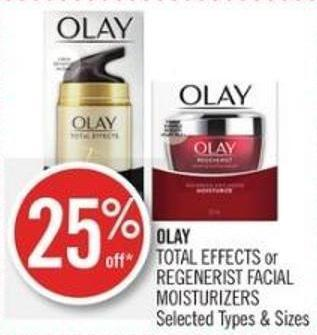 Olay Total Effects or Regenerist Facial Moisturizers