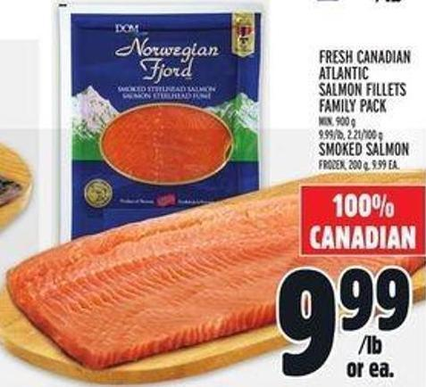 Fresh Canadian Atlantic Salmon Fillets or Smoked Salmon