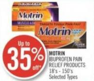 Motrin Ibuprofen Pain Relief Products 18's - 150's
