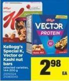 Kellogg's Special K - Vector Or Kashi Nut Bars - 144-200 G