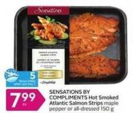 Sensations By Compliments Hot Smoked Atlantic Salmon Strips - 5 Air Miles Bonus Miles