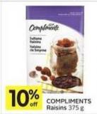 Compliments Raisins 375 g