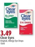 Clear Eyes Original - Allergy Eye Drops 15ml