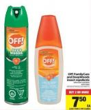 Off! Familycare And Deepwoods Insect Repellents