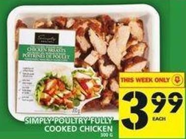 Simply Poultry Fully Cooked Chicken