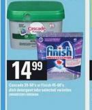 Cascade - 39-60's Or Finish - 45-60's Dish Detergent Tabs
