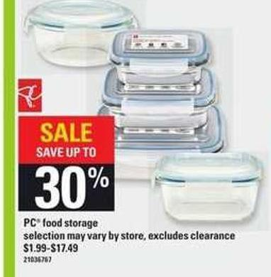 PC Food Storage