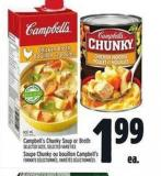 Campbell's Chunky Soup Or Broth | Soupe Chunky Ou Bouillon Campbell's