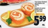 Fresh Salmon Pinwheels With Imitation Crab Stuffing 170 g