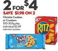 Christie Cookies  or Crackers 100-303g Pkg