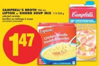Campbell's Broth - 900 mL - Lipton or Knorr Soup Mix - 113-338 g