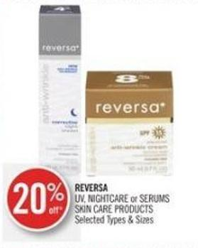 Reversa  Uv - Nightcare or Serums Skin Care Products