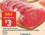 Inside Round Oven Roast - Select Grade Beef Or Higher
