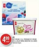 PC Ice Cream (1.5l) - Premium Ice Cream (4's) or Blue Menu Smoothie (6's) Bars