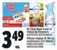 Mr. Clean Magic Eraser Or Febreze Air Fresheners