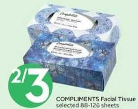 Compliments Facial Tissue