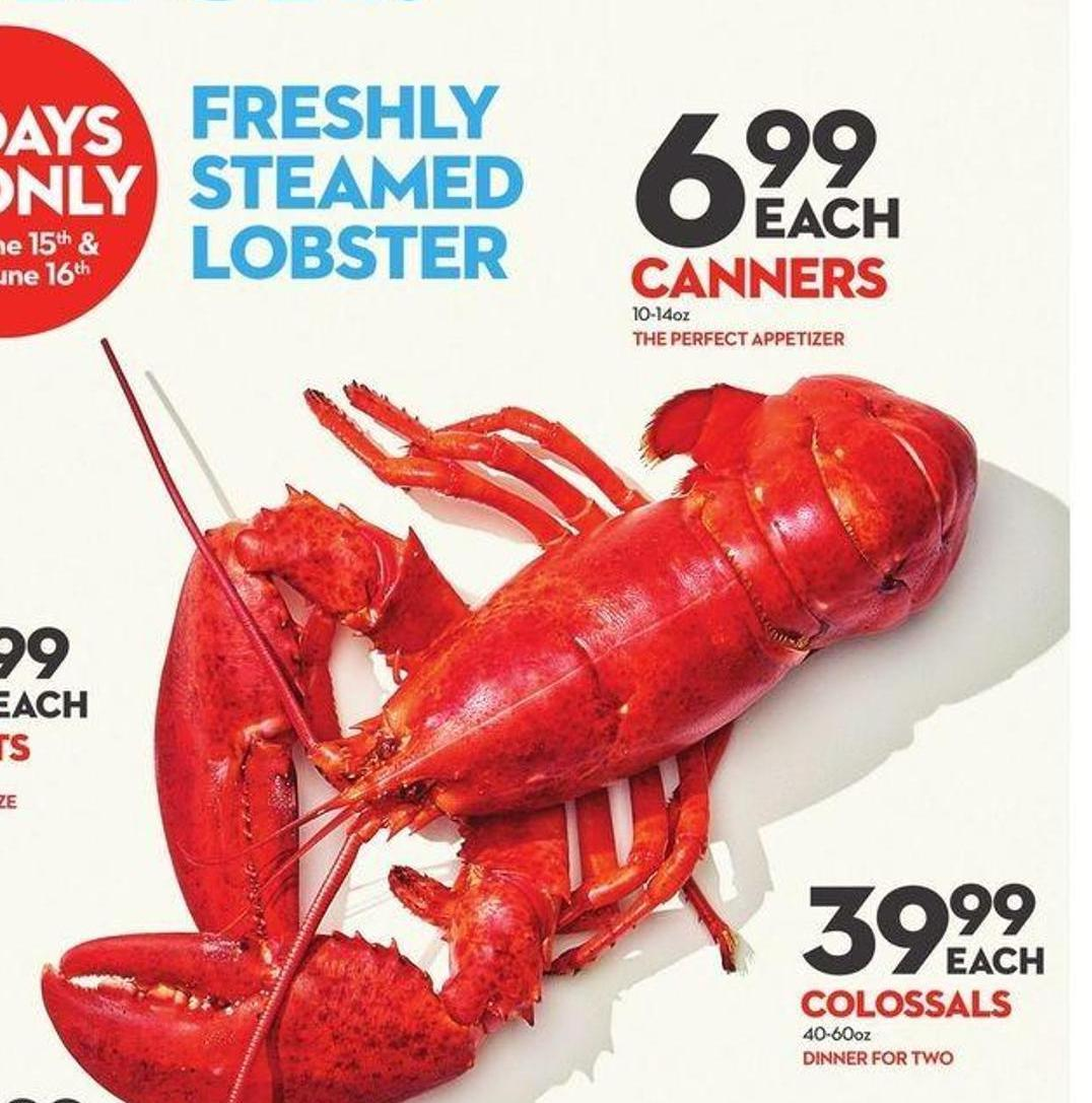 Freshly Steamed Lobster