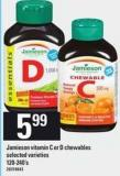 Jamieson Vitamin C Or D Chewables - 120-240's