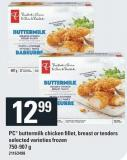 PC Buttermilk Chicken Fillet - Breast Or Tenders
