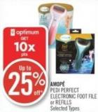 Amopé Pedi Perfect Electronic Foot File or Refills