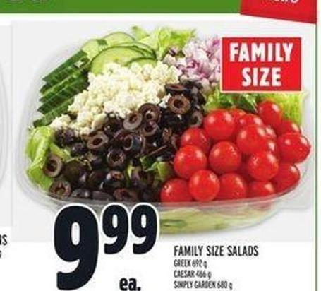 Family Size Salads