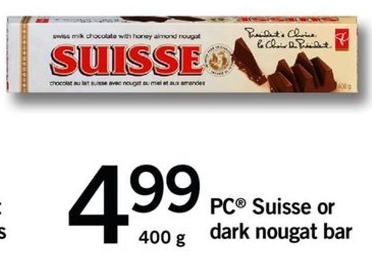 PC Suisse Or Dark Nougat Bar - 400 G