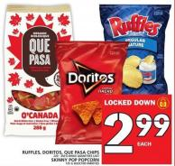 Ruffles - Doritos - Que Pasa Chips Or Skinny Pop Popcorn
