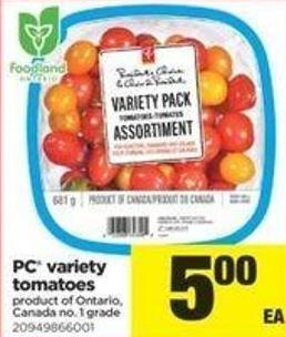 PC Variety Tomatoes