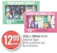 Teen or Tween Packs