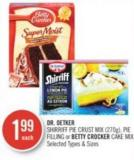 Dr. Oetker Shirriff Pie Crust Mix - Pie Filling or Betty Crocker Cake Mix (270g)