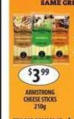 Armstrong Cheese Sticks 210g